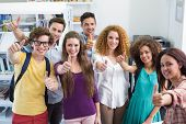 picture of student  - Happy students working together at the college - JPG