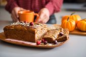stock photo of home-made bread  - Close - JPG