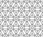 pic of arabic  - Abstract Seamless Geometric Islamic Wallpaper - JPG