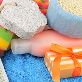 image of personal hygiene  - A soap and other personal hygiene products - JPG