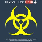 stock photo of hazardous  - Bio hazard icon  - JPG