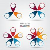 stock photo of diagram  - Vector circle elements for infographic - JPG