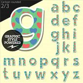 pic of redneck  - Vector children alphabet set in country style with colorful hearts - JPG