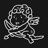 stock photo of cupid  - Cupid Doodle - JPG