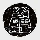 stock photo of vest  - Vest Doodle - JPG