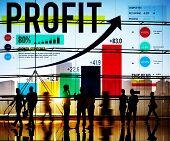 stock photo of accumulative  - Profit Finance Data Analysis Money Accumulation Concept - JPG