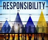 stock photo of responsible  - Responsibility Duty Job Reliability Roles Concept - JPG