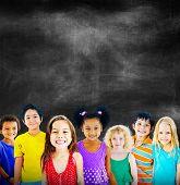 picture of innocent  - Diversity Children Friendship Innocence Smiling Concept - JPG