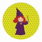 picture of witch  - Witch Cartoon Theme Elements - JPG