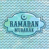 stock photo of ramadan mubarak card  - Grungy greeting card design for holy month of Muslim community - JPG