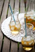 image of iced-tea  - Ice tea with mint leaves - JPG