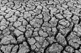picture of water shortage  - Dried soil caused by shortage of water in summer season - JPG