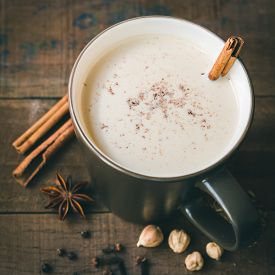 pic of cardamom  - masala chai with spices - JPG