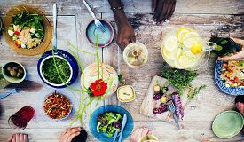 picture of food plant  - Food Table Healthy Delicious Organic Meal Concept - JPG