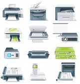 foto of multi purpose  - Vector detailed computer parts icon set - JPG
