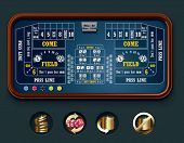 image of crap  - Vector craps table layout  - JPG