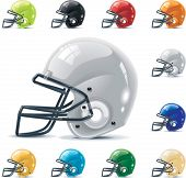 stock photo of football helmet  - Vector American football  - JPG