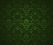 stock photo of green wall  - Seamless wallpaper pattern - JPG