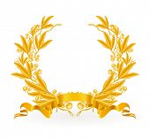 Gold Laurel Wreath, Vektor