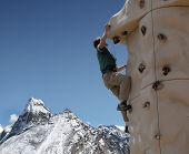 picture of chola  - Climbing a 5 - JPG