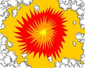 image of pop art  - Comic book vector background of an explosion - JPG