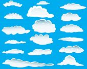 stock photo of blue sky  - Seamless vector clouds background for design use - JPG