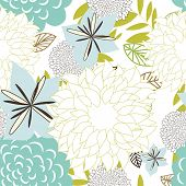 Seamless vector floral background. For easy making seamless pattern just drag all group into swatche
