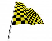 pic of draught-board  - Yellow and black checked racing flag - JPG