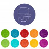 Not Available Database Icon. Outline Illustration Of Not Available Database Vector Icon For Web poster