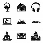 Culture Nation Icons Set. Simple Set Of 9 Culture Nation Vector Icons For Web Isolated On White Back poster