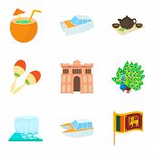 Journey Attraction Icons Set. Cartoon Set Of 9 Journey Attraction Vector Icons For Web Isolated On W poster