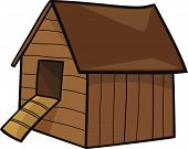 picture of hen house  - cartoon vector Illustration of farm hen house - JPG