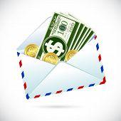 Постер, плакат: Долларов в конверте