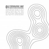 Topographic Map Contour Background. Topo Map With Elevation. Contour Map Vector. Geographic World To poster