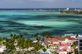 Caribbean Lagoon And The White Sand Beaches In Nassau, Bahamas poster