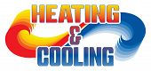 Heating And Cooling Design Is An Illustration Is An Illustration That Can Be Used For Heating And Ai poster