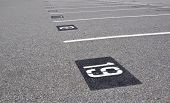 stock photo of parking lot  - Empty parking lot - JPG