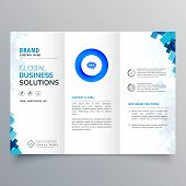 Trifold Business Brochure Vector Design Professional Template poster