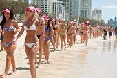 World Record Longest Bikini Parade In Gold Coast, Australia