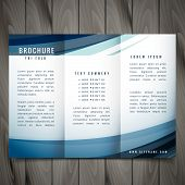 Vector Wave Trifold Brochure Vector Design Illustration poster