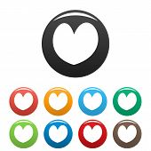 Reliable Heart Icon. Simple Illustration Of Reliable Heartvector Icons Set Color Isolated On White poster