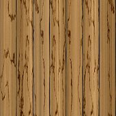 Realistic Wooden Wood Planked Planks Beige Light Brown Seamless Texture Background With Cracks poster