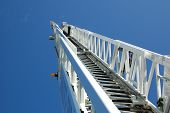 stock photo of ladder truck  - Fire Department Aerial Ladder - JPG