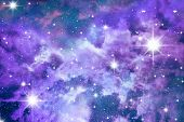 Постер, плакат: Небесно голубой звезды