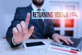 Word Writing Text Returning Visitor. Business Concept For When Someone Returns To Your Website Multi poster
