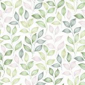 Packaging Tea Leaves Pattern Seamless Vector. Minimal Tea Plant Bush Leaves Floral Textile Design. H poster