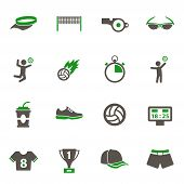 Volleyball Icons. Set Of 16 High Quality Volleyball Vector Icons In Two Color For Web, Mobile And Us poster