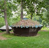 Wooden Yurts At Glen Echo
