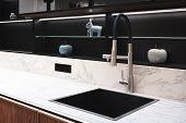Kitchen Interior, Modern Kitchen With A Luxury Mixer, Breakfast Concept, Kitchen Background, Concept poster