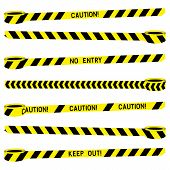 Police Stripe Border Vector Set. Police Tape Yellow Black For Concept Design. Stripe Tape Danger Pol poster